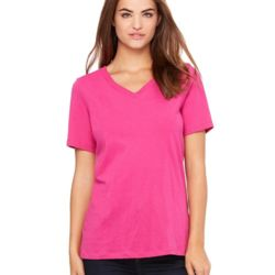 6405 Women's Short Sleeve Jersey V-Neck T-Shirt Thumbnail